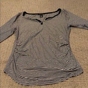 White House Black Market striped quarter sleeve